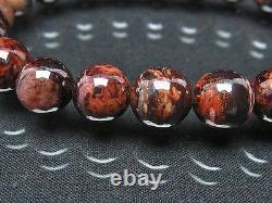 10MM Rare 4A Natural Blue Brown Sugilite Gemstone Round Bracelet GIFT BL8268c