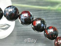 10MM Rare 6A Natural Blue Red Sugilite Gemstone Round Bracelet GIFT BL9268b
