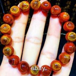 10.2mm Rare Genuine Natural Red Auralite Sky Eye Crystal Beads Rare Bracelet AAA