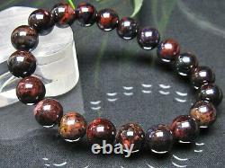 10.5MM Rare 4A Natural Purple Sugilite Gemstone Round Bracelet GIFT BL7719b