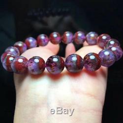 10.5mm Genuine Natural Auralite 23 Canada Crystal Beads Rare Bracelet AAAA