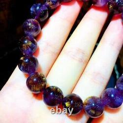 10.5mm Genuine Natural Auralite Crystal Beads Rare Bracelet AAAA