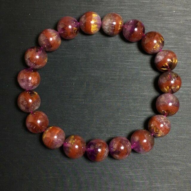 10mm Genuine Natural Auralite Crystal Beads Rare Bracelet Aaaa