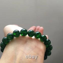 10mm Rare Natural Green Diopside Gemstone Round Beads Bracelet AAAA