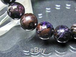 12MM Rare 4A Natural Purple Sugilite Gemstone Round Beads Bracelet GIFT BL7762c