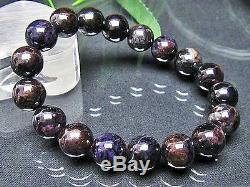 12MM Rare 4A Natural Purple Sugilite Gemstone Round Beads Bracelet GIFT BL7762d