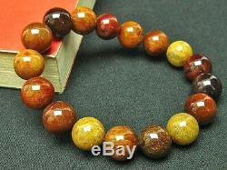 12MM Rare 5A Natural Golden Rutilated Quartz Round Beads Bracelet GIFT BL4366c