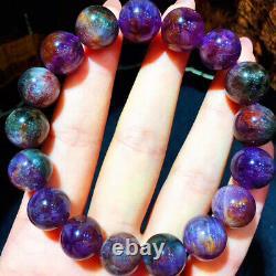 12.2mm Genuine Natural Auralite Crystal Beads Rare Bracelet AAAA