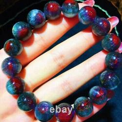 12.3mm Genuine Natural Starlight Auralite Crystal Beads Rare Bracelet AAAA