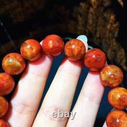 12.3mm Red Genuine Natural Starlight Auralite Crystal Beads Rare Bracelet AAAA