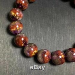 12.7mm Natural Cacoxenite Auralite 23 Gemstone Round Beads Rare Bracelet AAAAA