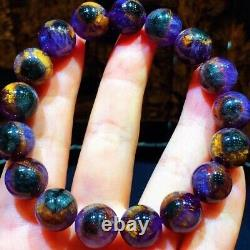 12mm Genuine Natural Auralite Crystal Beads Rare Bracelet AAAA