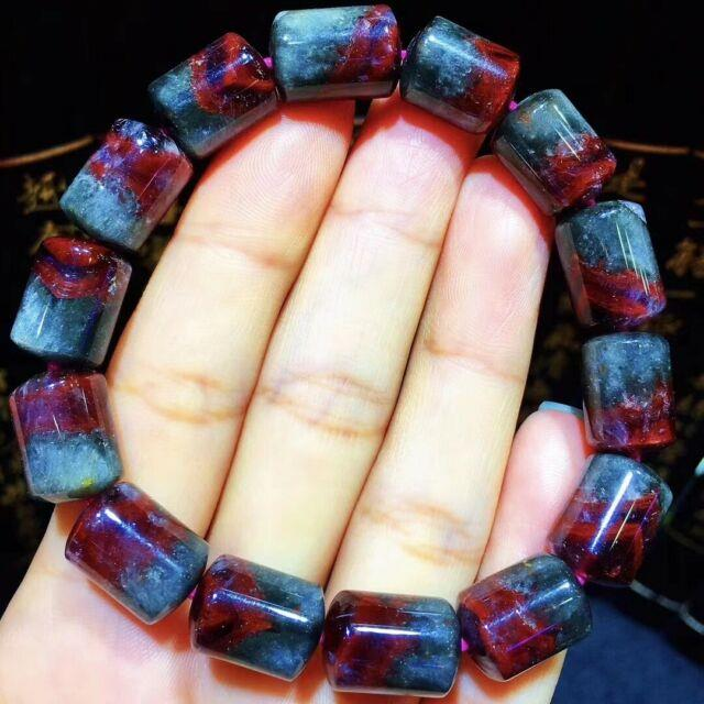 13.410mm Genuine Natural Auralite Crystal Beads Rare Bracelet Aaaa