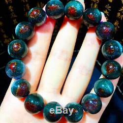 13.5mm Genuine Natural Auralite Crystal Beads Rare Bracelet AAAA