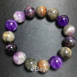 14.9mm Natural Colorful Auralite 23 Canada Crystal Beads Rare Bracelet AAAA