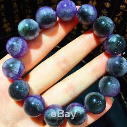 14mm Genuine Natural Auralite Crystal Beads Rare Bracelet AAAA