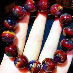 15.5mm Genuine Natural Auralite Crystal Beads Rare Bracelet AAAA