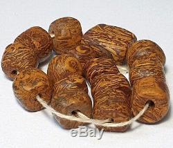 15 Ancient Rare Jasper Stone Beads