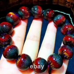 16mm Genuine Natural Auralite Crystal Beads Rare Bracelet AAAA