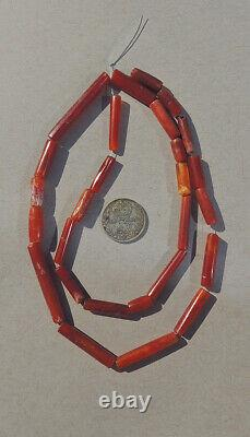 17.5 inch 45cm strand of rare ancient agate african stone beads mali #4157