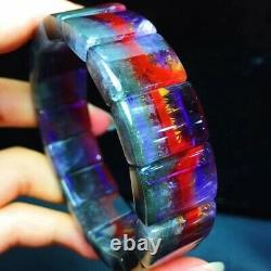 1813.36.5mm Genuine Natural Auralite Crystal Beads Rare Bracelet AAAA
