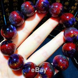 18.2mm Genuine Natural Auralite Crystal Beads Rare Bracelet AAAA