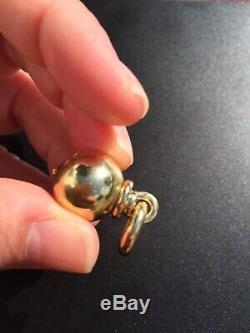 18ct Yellow Gold Large Ball Bead Hardware Pendant Amazing Piece Rare