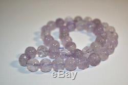 1920s Carved Antique Rare Amethyst Beads Shou Strand Estate Jewelry Lot Vtg