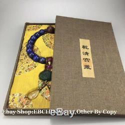 20mm Rare China Lapis lazuli Stone Necklace 18 Beads Bracelet Bangle Necklace