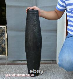 24 Rare Hongshan Culture Old Jade Stone (black magnet) Dzi Beads Cong & Zong
