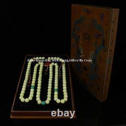 28mm Rare China Luminous Stone Necklace 108 Beads Bracelet Bangle Necklace
