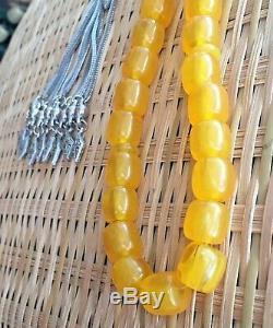 33 Islamic Prayer Beads Faturan Stone Rosary AMBER BAKELITE Rare Misbaha