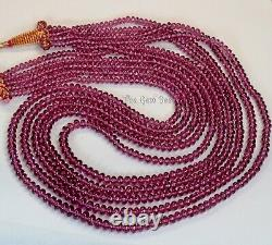 3.2mm-5.8mm Rare Malawi Rhodolite Garnet Smooth Rondelle Beads 99 5-necklace
