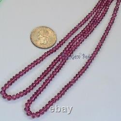3.3mm-5.5mm Rare Malawi Rhodolite Garnet Smooth Rondelle Beads 18.5 Strand
