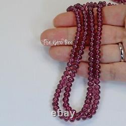 3.3mm-6mm Rare Malawi Rhodolite Garnet Smooth Rondelle Beads 18.5 Strand