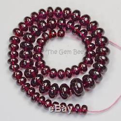 440.80CT Rare Large Mozambique Rhodolite Garnet Smooth Rondelle Beads 17 Strand