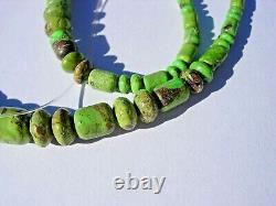 45.21 gram rare GASPEITE tumbled nice BEADS 18 inch strand NATURAL colored stone
