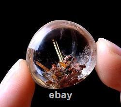 46.25ct Rare Natural Gold Rutilated Quartz Crystal Woman Cure Powerful Pendant