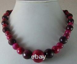 515 cts NATURAL RUBY BALLS ROUND SHADED XCLUSIV RARE BEADS FACETED CUT NECKLACE