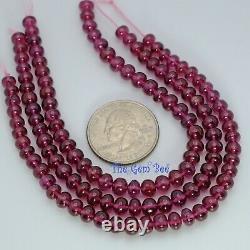 5.2mm-6mm Rare Malawi Rhodolite Garnet Smooth Rondelle Beads 7 Strand