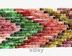 7 Lines Very Rare Gem Quality Natural Tourmaline Beads 2.5 3 MM 15 18 #b005