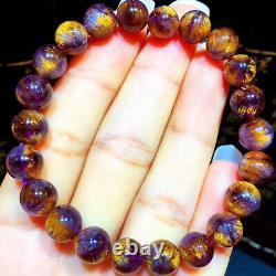 8.2mm Genuine Natural Starlight Auralite Crystal Beads Rare Bracelet AAAA