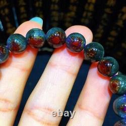 8.6mm Genuine Natural Auralite Crystal Beads Rare Bracelet AAAA