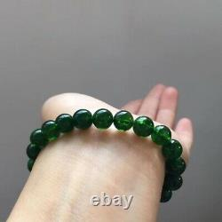 8.6mm Rare Natural Green Diopside Gemstone Round Beads Bracelet AAAA