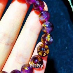 8mm Genuine Natural Starlight Auralite Crystal Beads Rare Bracelet AAAA