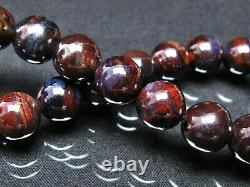 9MM Rare 4A Natural Blue Purple Sugilite Gemstone Round Bracelet GIFT BL8319c