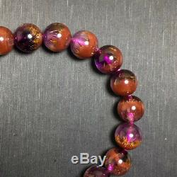 9.5mm Genuine Natural Auralite 23 Canada Crystal Beads Rare Bracelet AAAA
