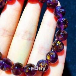 9mm Genuine Natural Starlight Auralite Crystal Beads Rare Bracelet AAAA