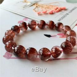 AAAAA Natural Red Super Seven Lepidocrocite Quartz Beads Rare Bracelet 12.5 mm
