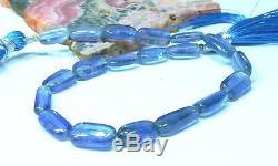 AAA RARE GENUINE NATURAL GEM BLUE KYANITE NUGGET BEADS 78ct 11-13mm 9 STRAND